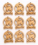 Bichon Frise Dog Ornament Minis - Set of 9